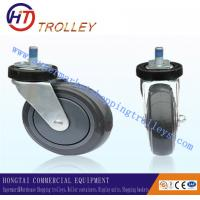 Quality 125 mm Warehousing Shopping Trolley Spare Parts  5 inch Ground PU Castor for sale