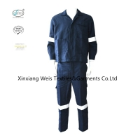 China Navy Blue Modacrylic Cotton / Nomex 3A Inherent FR Clothing on sale