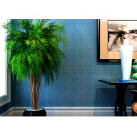 Wholesale High Range Blue Bronzing Non-Woven Paper Modern Removable Wallpaper for Living Room from china suppliers