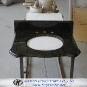 Wholesale Dark Green Granite Sink Countertop, Vanity Tops from china suppliers