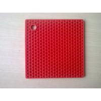 Wholesale Durable SquareSilicone Heat Resistant Mats Honeycomb Food-safe FDA Approval from china suppliers
