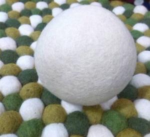 Wholesale high quality handmade lambskin wool felt ball wool sheepskin cushion from china suppliers