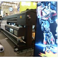 Wholesale 1.8M / 3.2M Eco Solvent Double Side Printer with Epson DX7 head to print Banner from china suppliers