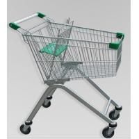 Wholesale Metal Luggage Shopping Trolley With Wheels , Supermarket Unfolding Cart 80L from china suppliers