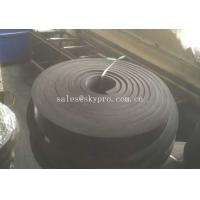 China Black Rubber Sheet Non Asbestos skirtboard rubber Natural Sponge , 1mm-100mm Width on sale