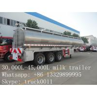 Wholesale high quality and competitive price 45,000L stainless steel milk tank for sale from china suppliers