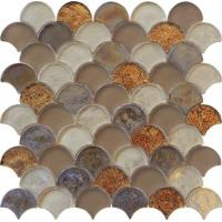 Wholesale Brown blend color water waving glass mosaic for counter decoration from china suppliers