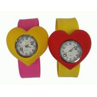 Wholesale Sport Heart Shape Waterproof Slap Silicone Watch For Kids With Japanese Movement from china suppliers