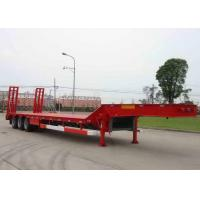 Wholesale Low-bed Semi Trailer Truck 3 Axles 70Tons 17m for Loading construction machine from china suppliers