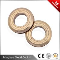 Wholesale 30.49mm zinc alloy eyelet curtain rings,light gold metal eyelet for curtain from china suppliers