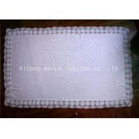 Wholesale Rectangular Crochet Table Cover Floral Maginal , Handmade Crochet Lace Tablecloth from china suppliers