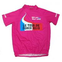 Wholesale Heat Transfer Pink Custom Printed Cycling Jerseys Sport Clothing Size S / M / L for Kids from china suppliers