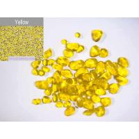 Buy cheap Yellow glass bead pebble for pool finishes from wholesalers