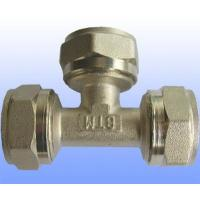 Wholesale compression brass fitting equal tee for PEX-AL-PEX from china suppliers