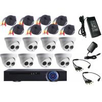 Wholesale Full HD 1.3MP 8 Channel DVR Kit , Indoor Dome CCTV Camera DVR Kit 18m Cable from china suppliers