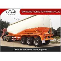 Wholesale Carbon Steel V shape Bulk cement tanker trailers 3 axles silo cement carrier trailers from china suppliers