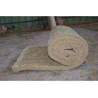 Wholesale Residential Rockwool Insulation Blanket With Wire Mesh / Fiberglass Cloth from china suppliers