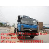 Wholesale dongfeng brand LHD/RHD 10-12ton refrigerated truck for sale, best price freezer van truck for fresh fruits and vegetable from china suppliers