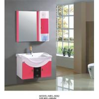 Wholesale 80 X47/cm hanging cabinet / PVC bathroom cabinet / wall cabinet  / white color for sanitary ware from china suppliers