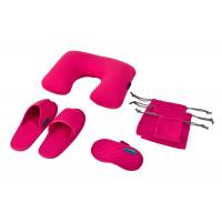 Wholesale Rose Luxury Travel Set , Inflatable Pillow / Open Toe Slippers / Eye Mask from china suppliers