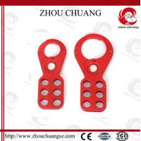 Wholesale Useful Six Holes Osha Red Economic Steel Hasp For Lock ZC-K03 from china suppliers
