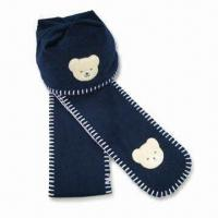 Wholesale Fleece Winter Set with Bear Applique Embroidery, Suitable for Children, Made of Polyester from china suppliers