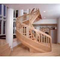 Wholesale Modern Building Curved Staircase with Custom Solid Wood Step from china suppliers