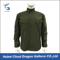 Wholesale Dark Green Womans / Mens Work Jackets , Military Design Shirts With Mixed Materials from china suppliers