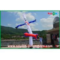 Wholesale Advertising 5m Blue White Inflatable Air Dancer , Inflatable Air Dancer Cook Sky from china suppliers
