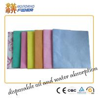 Wholesale Environmentally Friendly Household Cleaning Cloths Wipes Pink / Orange / Blue from china suppliers