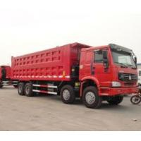 Wholesale 8x4 powerful engine 50 tons heavy duty dump truck 266h-375ph with flat roof cabin from china suppliers