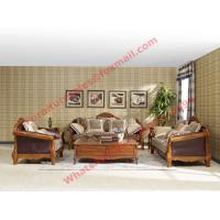 Wholesale European Country Style Classic Solid Wooden Sofa Made by Italy Leather and Fabric Sofa Set from china suppliers