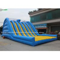 Wholesale Adults Large Inflatable Dry Slides 6 Lanes For Outdoor Obstacle Run from china suppliers