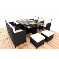 Wholesale Promotion Rattan Furniture 11PCS Indoor / Outdoor Rattan Dining Sets Set With Cushion from china suppliers