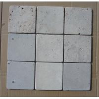 Wholesale Natural Stone Mosaic China White Travertine Mosaic with Tumbled Finish for Wall Decoration from china suppliers