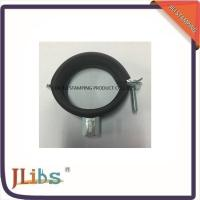 Wholesale Black / Zinc Plated EPDM Rubber Water Pipe Clamp One Screw Fixing from china suppliers