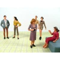 Wholesale P25-6 7CM Architectural Scale Model People Painted Figures for train layout from china suppliers