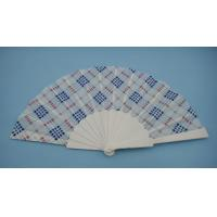 Wholesale Full Color Advertising Plastic Fabric Folding Hand Fans 23cm X 42cm from china suppliers
