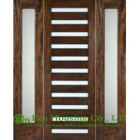 Wholesale Customized Solid Mahogany Entry Door with Laminated glass For Villas from china suppliers