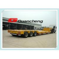 Wholesale Tri Axle Low Bed Semi Trailer With Air Suspension / Stowage Spring from china suppliers