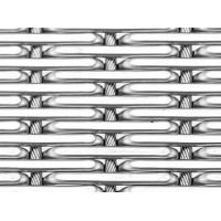 A piece of cable metal mesh with flat top round wire and 2.75mm single row cable steel wire.