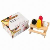 Wholesale Promotional Condiment Set, Made of PVC and Wood from china suppliers