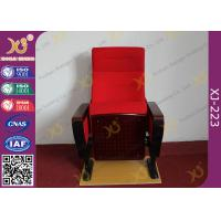 Wholesale Modern Conference Room Chairs With Writing Pad In Arm / Metal Frame from china suppliers