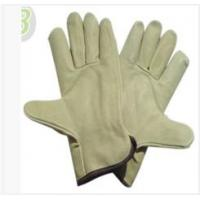 Wholesale XXL Light Yellow Grain Full Pig Skin Leather Gloves with Wing Thumb for Warehousing from china suppliers