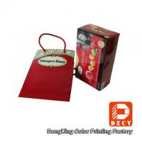 Wholesale Red Wedding Paper Gift Bags With Cotton String Colorful Printing Glossy Lamination from china suppliers