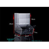 Vertical High Transparent Acrylic Display Box With Spoon For Retail Candy