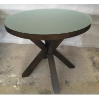 Wholesale 6MM Tempered Glass Top Round Dining Table Hotel Interior Furniture ISO Listed from china suppliers