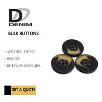 China Four Holes Custom Polyester Bulk Clothing Buttons For Coat Horn Effect on sale