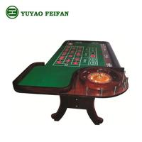 Wholesale Luxury Brown Wooden Texas Holdem Poker Table With 18'' / 32'' Wooden Wheel from china suppliers
