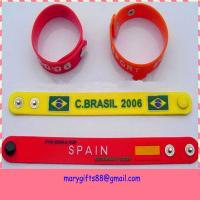 Wholesale promotion pvc wristband for world cup from china suppliers